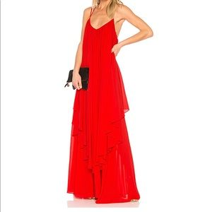 Michael Costello for Revolve Maren Red Maxi Dress